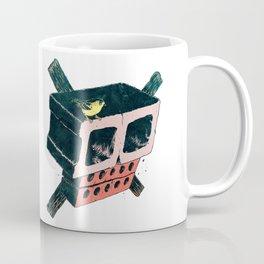 Brick Crossbones and a Bird Coffee Mug
