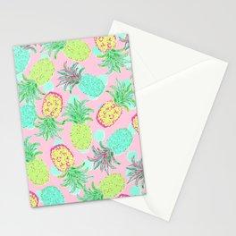 Pineapple Pandemonium Tropical Spring Stationery Cards