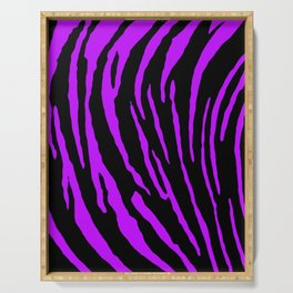 Purple Tiger Stripes Serving Tray