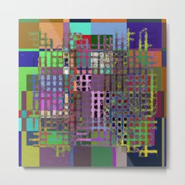 Pastel Playtime - Abstract, geometric, textured, pastel themed artwork Metal Print