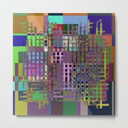 Pastel Playtime - Abstract, geometric, textured, pastel themed artwork Metal Print