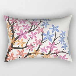Colorful Flowering Tree Rectangular Pillow