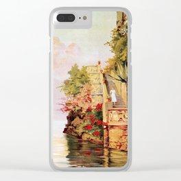 1920 Romantic Lenno Lake Como Clear iPhone Case