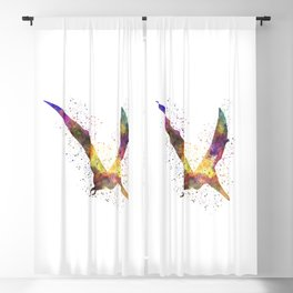 Pterodactylus dinosaur in watercolor Blackout Curtain