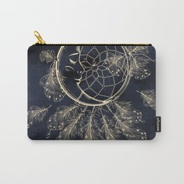 GOLDEN MOON IN DARK NIGHT Carry-All Pouch