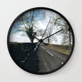 winter road in Derbyshire Wall Clock