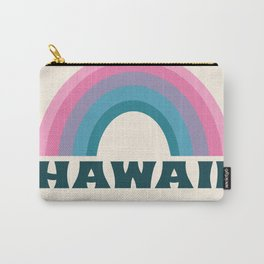 Diggin' It - 70s retro minimal 1970's style hawaii tropical rainbow beach vibes Carry-All Pouch