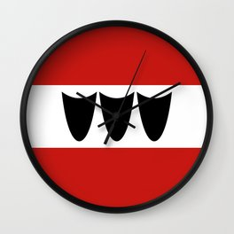 Trebic city flag czech republic country Wall Clock