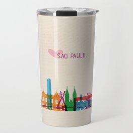 Love Sao Paulo Brazil Travel Mug
