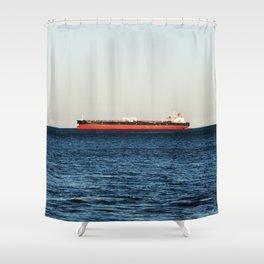 Cargo Ship Seascape Shower Curtain