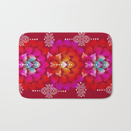 Variations on A Feather IV - Stars Aligned (Firebird Edition) Bath Mat