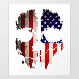 Skull American Flag Punisher Art Print