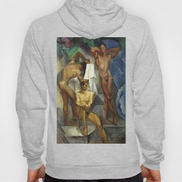 Young Bathers by George Pauli Nude Male Art Hoody