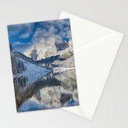 Winter Season at Maroon Bells Colorado Panorama Stationery Cards