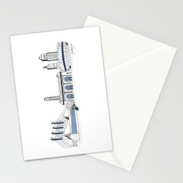 Kansas City Skyline Illustration in Sporting KC Colors Stationery Cards