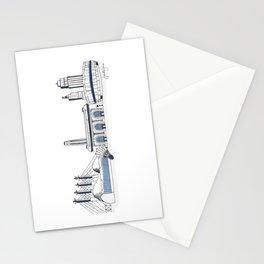 Kansas City Skyline Illustration in Sporting KC Colors Stationery Cards