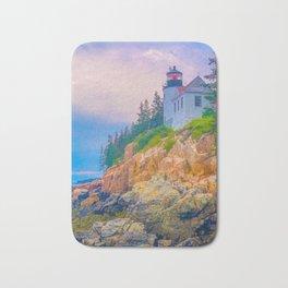 Bass Harbor Lighthouse Acadia National Park Color Bath Mat