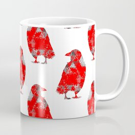 tri crows redgrey Coffee Mug