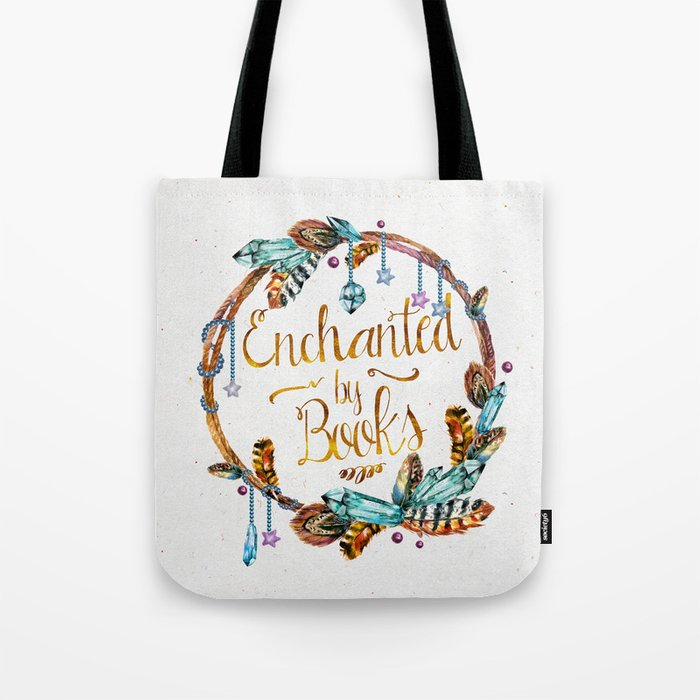 Enchanted by Books Tote Bag