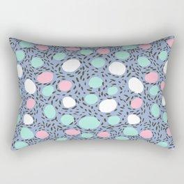 Minimal pastel modern pattern design polka dot dots basic nursery decor Rectangular Pillow