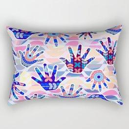 Colorful hands II Rectangular Pillow