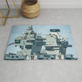 AIRCRAFT CARRIER VISITING LIVERPOOL Rug