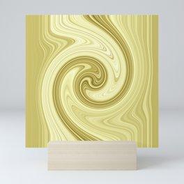 Molten gold swirls zen Mini Art Print