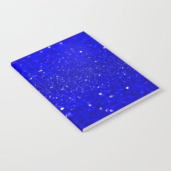Bright Blue Glitter Notebook