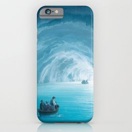 The Blue Grotto, Capri, Italy by landscape painting Gioacchino La Pira iPhone Case