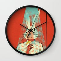 cocktail Wall Clocks featuring Cocktail by Roland Lefox