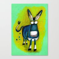 donkey Canvas Prints featuring Donkey by t i t i l l a