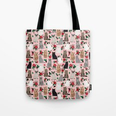 Catsmas christmas poinsettias florals cat breeds pet friendly festive holiday gifts Tote Bag