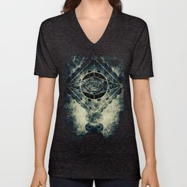 Sacred Geometry for your daily life -  SATURN EYE Unisex V-Neck