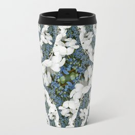 Hydrangeas - White & Blue Floral Travel Mug