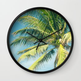 Hookipa Palm Dreams Wall Clock