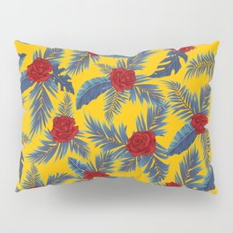 Abstract roses and leaves pattern Pillow Sham