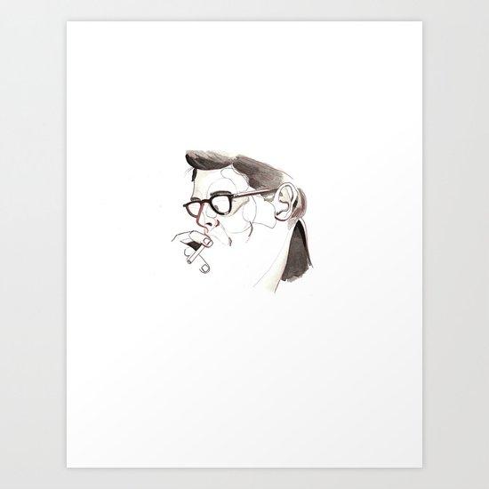 a young allen ginsberg  Art Print