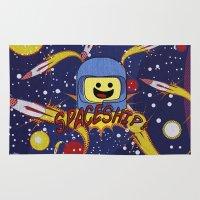 spaceship Area & Throw Rugs featuring Spaceship!  by Brieana