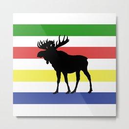 Metis Moose Metal Print