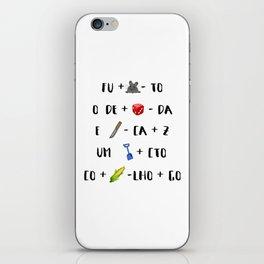 > fura o dedo iPhone Skin