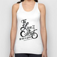 verse Tank Tops featuring Typographic Verse by Ruthie Designs