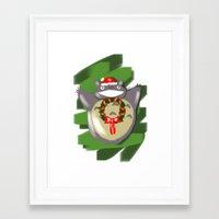 cartoons Framed Art Prints featuring Christmas Cartoons by Erica_art