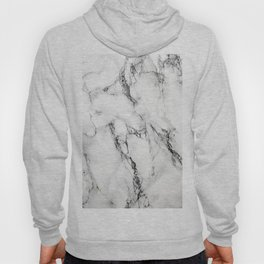 White Faux Marble Texture Hoody
