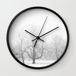 Winter Mist Wall Clock