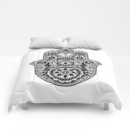 Black and White Hamsa Hand Comforters