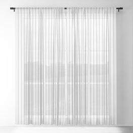Gray ticking stripes Sheer Curtain