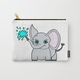 Lovely and funny elephant drawing Carry-All Pouch