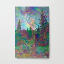 Dark Hipster Forest Metal Print