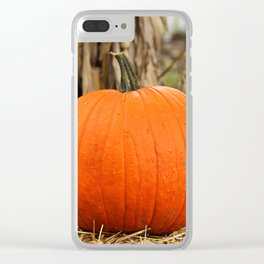 Pumpkin and the leaf Clear iPhone Case