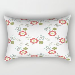 Ditsy Flower Chain Rectangular Pillow